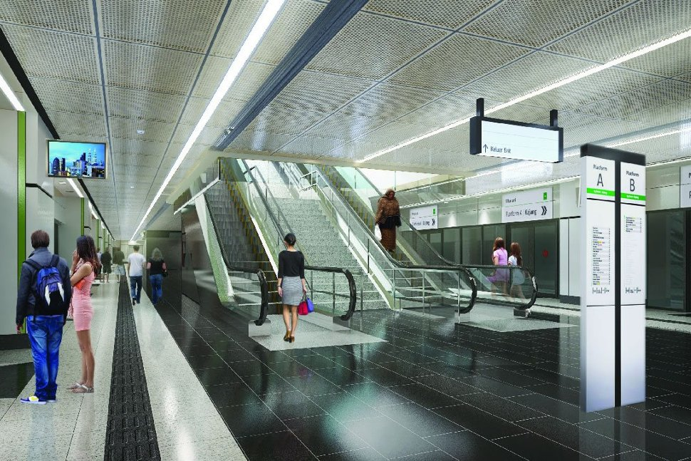 Artist impression of Maluri station