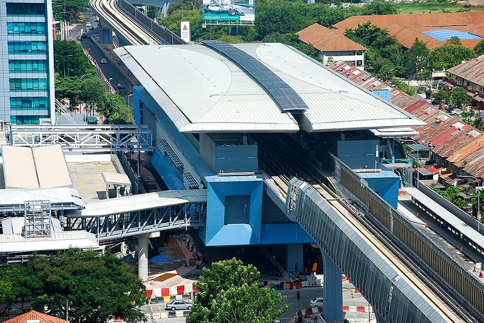 Aerial view of the Mutiara Damansara MRT Station. (Oct 2016)