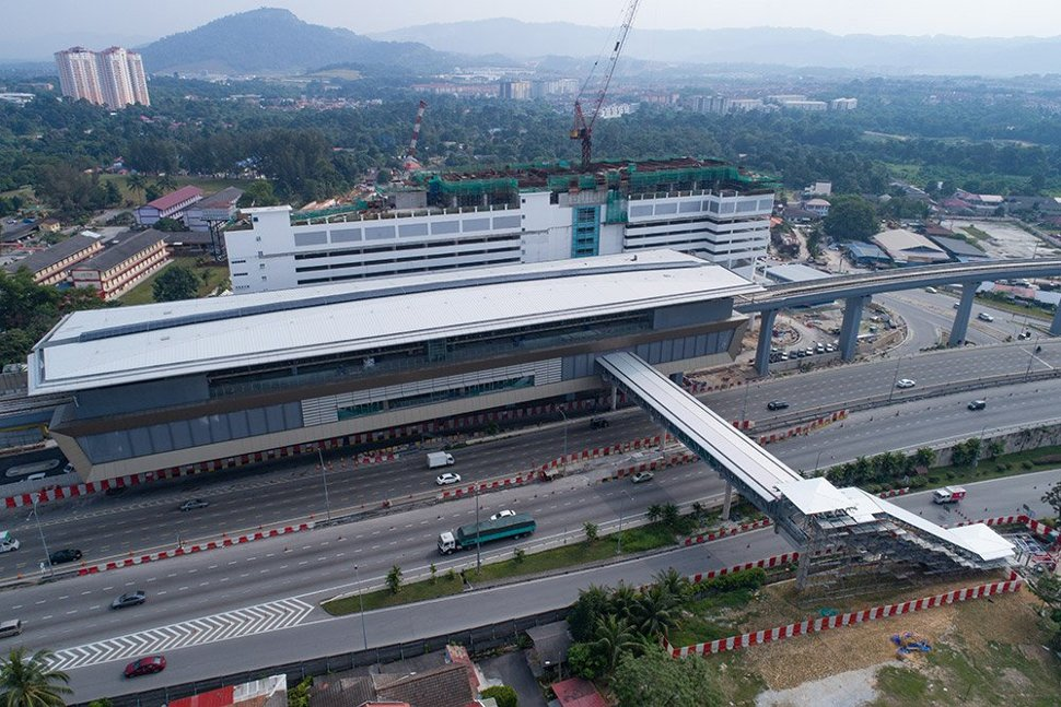 Aerial view of the Sri Raya MRT Station. Jan 2017