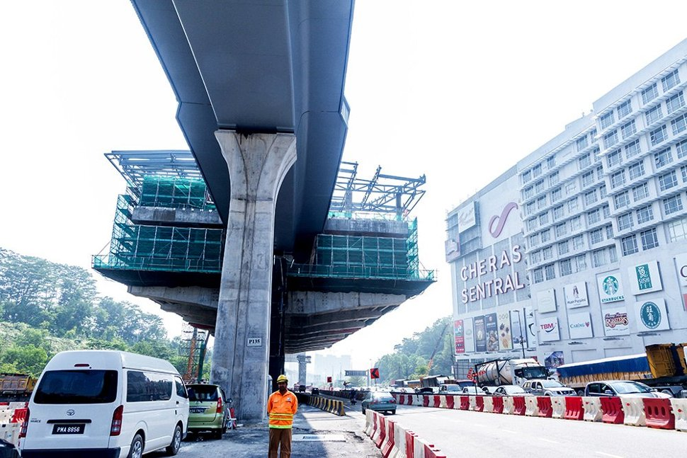 Construction of the Taman Connaught Station. Oct 2015