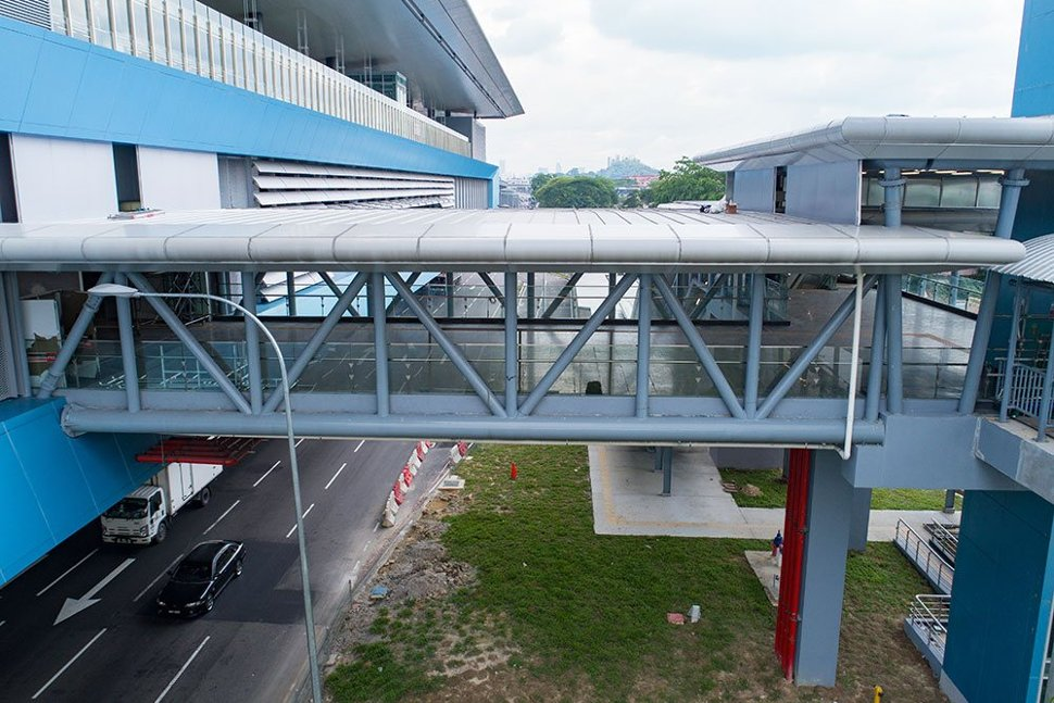 The completed pedestrian walkway access to the Taman Mutiara Station. Apr 2017
