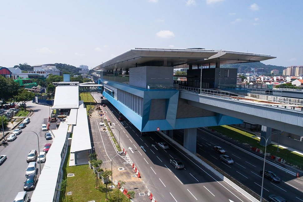 View of the completed Taman Mutiara MRT Station. Mar 2017
