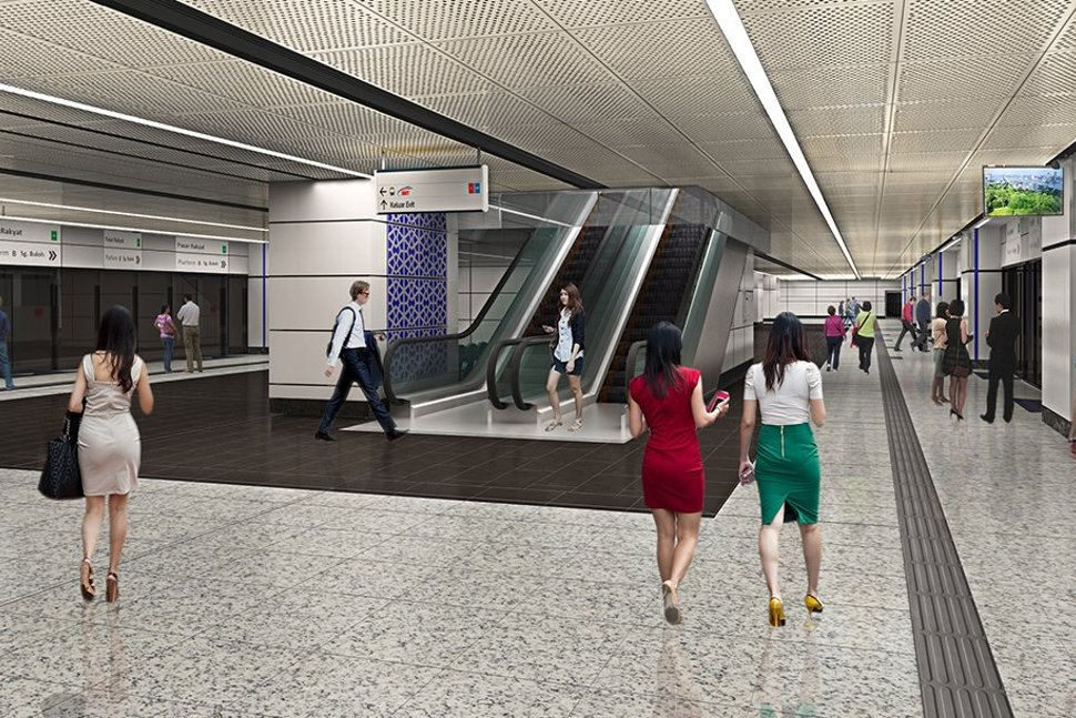 Artist impression of Tun Razak Exchange station