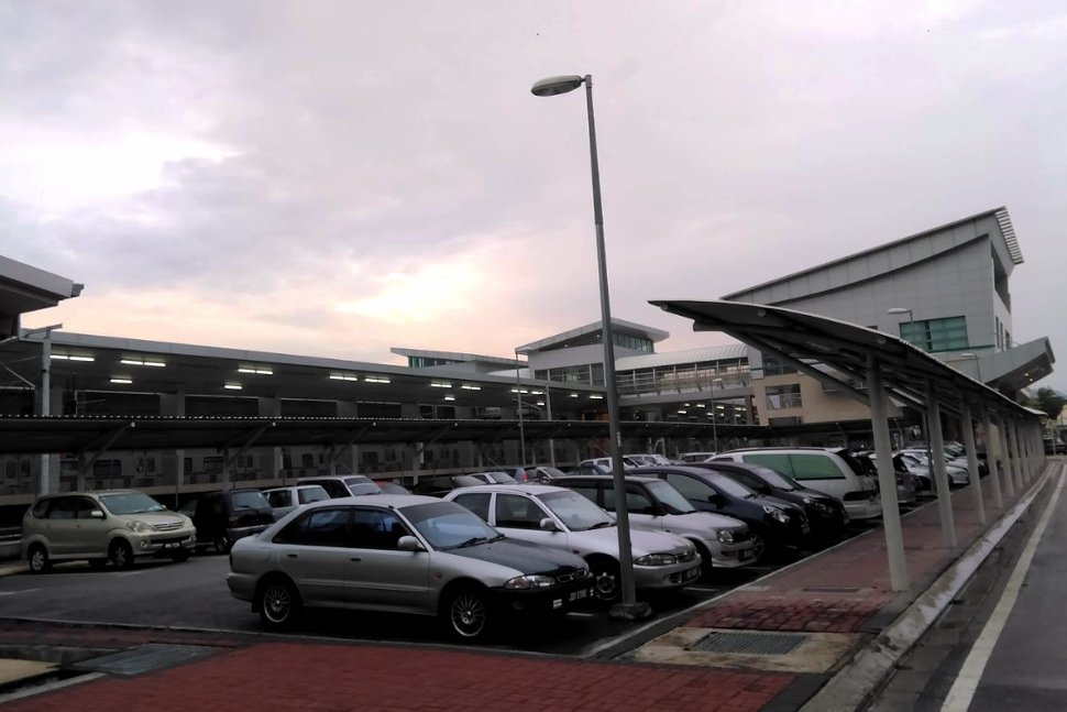 Parking area near the station