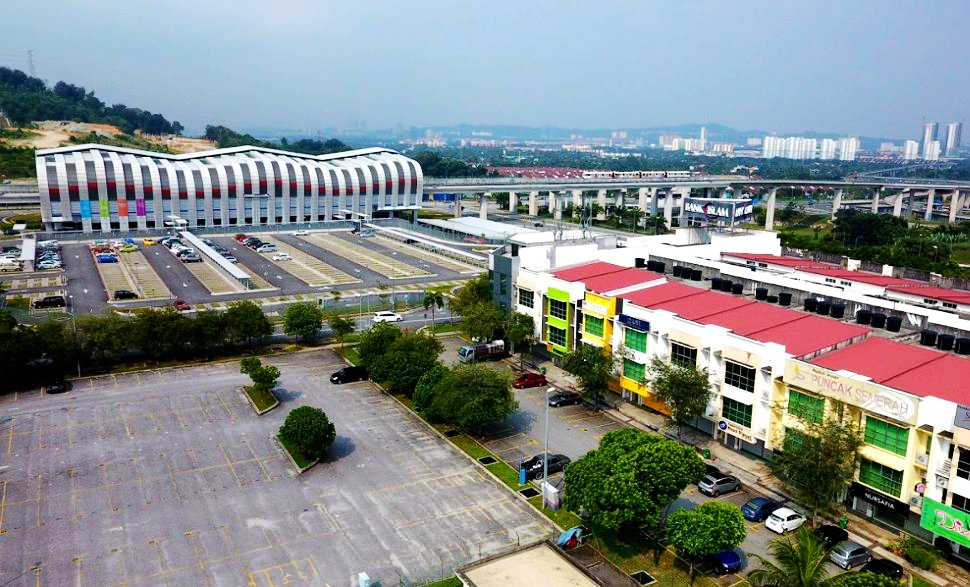 Aerial view of Putra Heights station