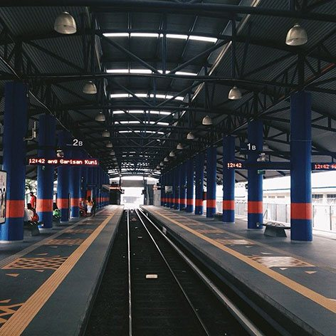 Boarding platforms at LRT station