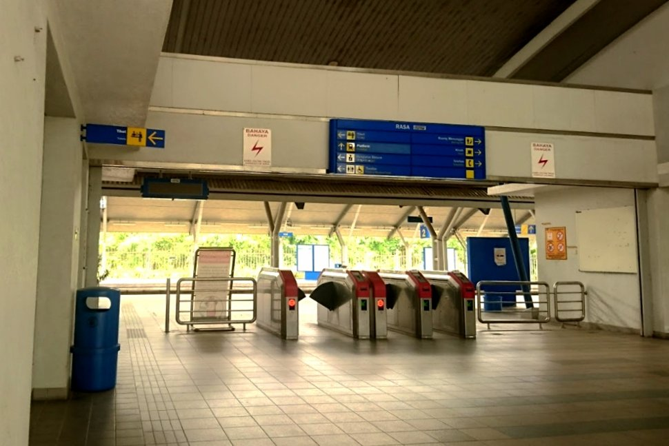 Entrance and faregates at the station
