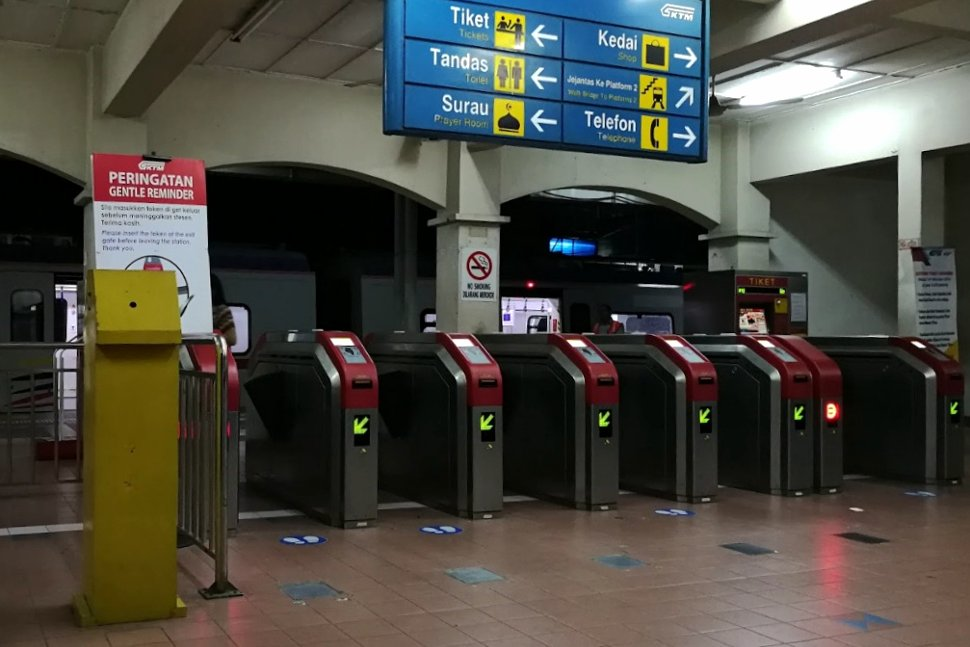 Faregates at the station