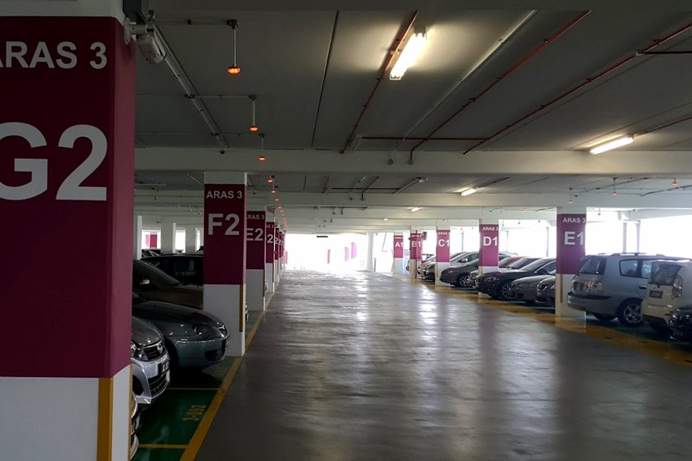Parking bays at the car park