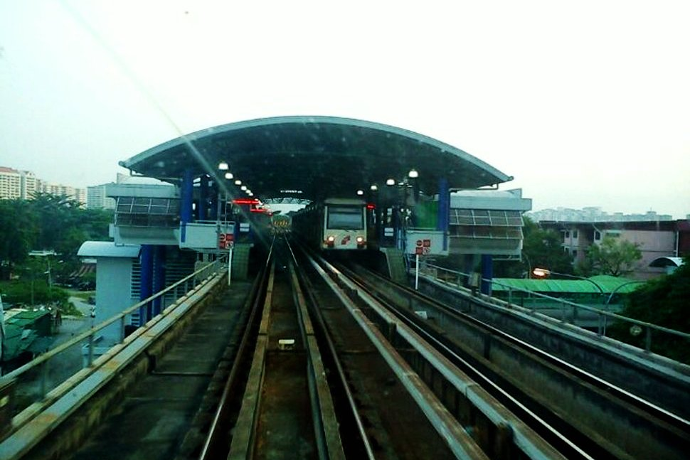 View of Sentul Timur LRT station from LRT