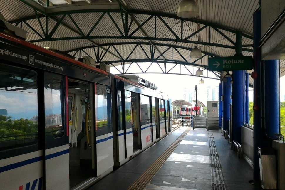 Boarding platform at the LRT station