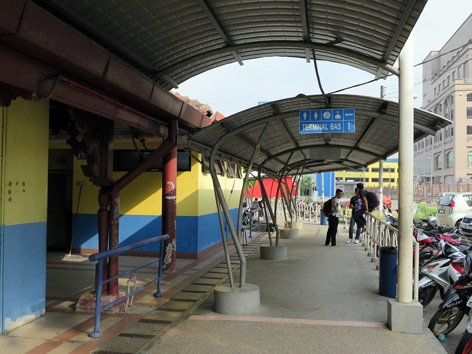 Covered walkway to Seremban Bus Terminal