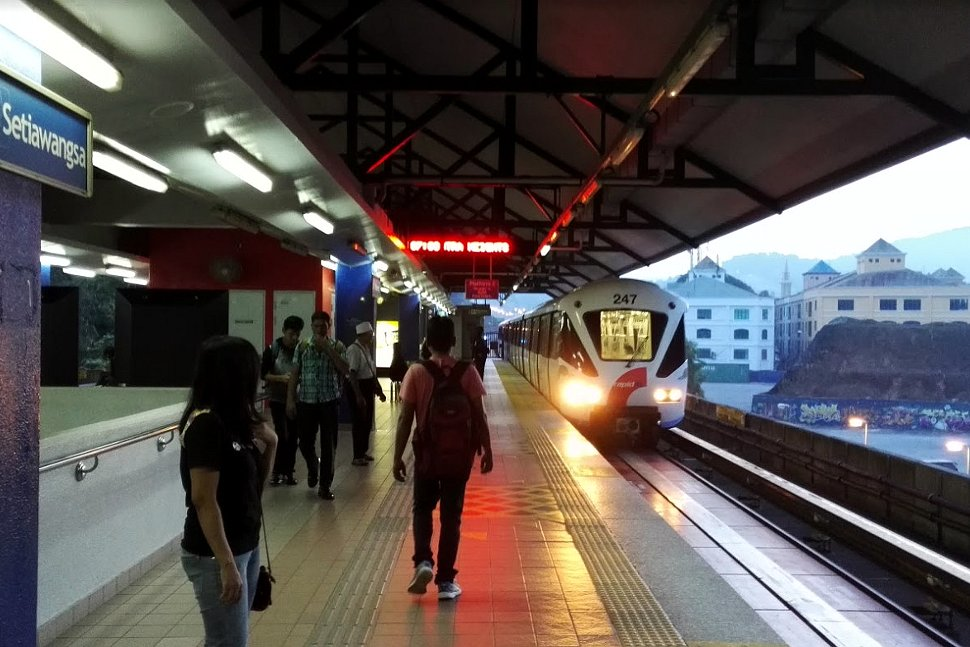 Boarding platform at LRT Station