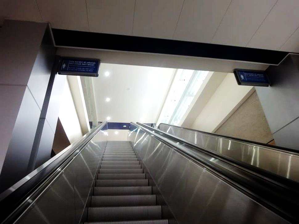 Escalator access at Sri Rampai LRT Station