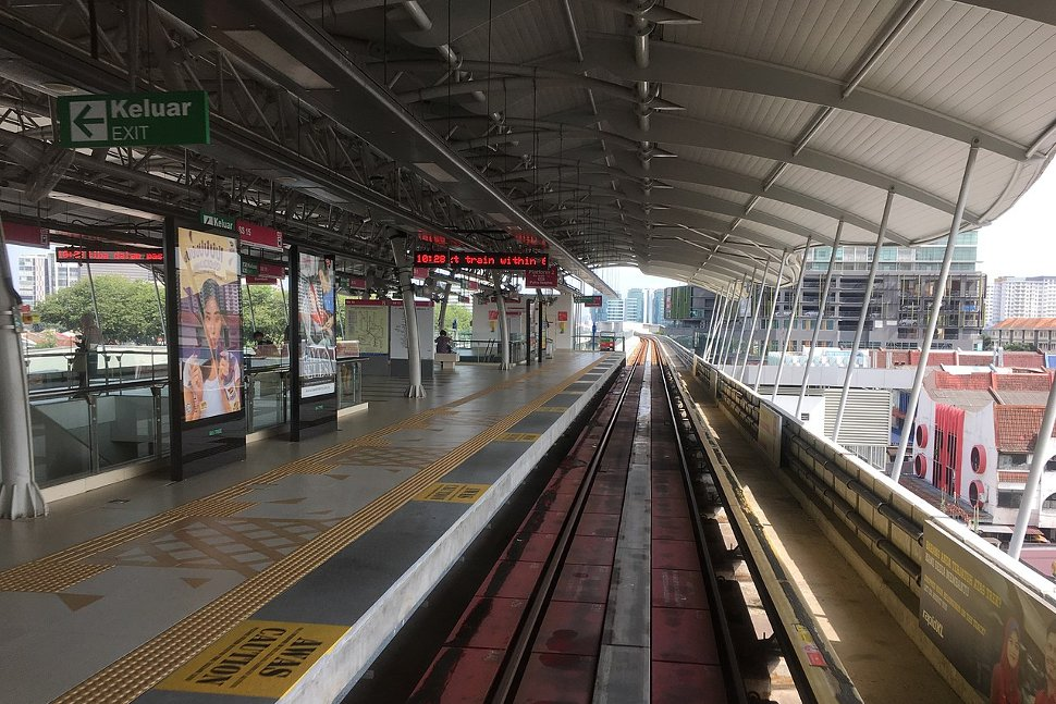 View of the Gombak-bound platform of the station