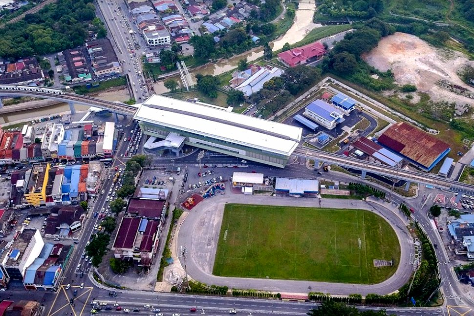 Aerial view of Stadium Kajang MRT station