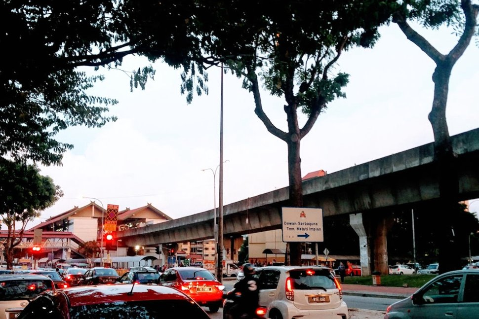 Taman Melati LRT Station from a distance