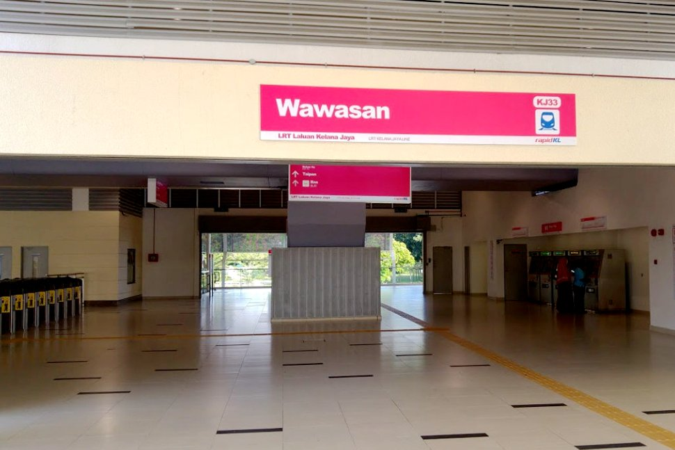 Concourse level at Wawasan LRT station