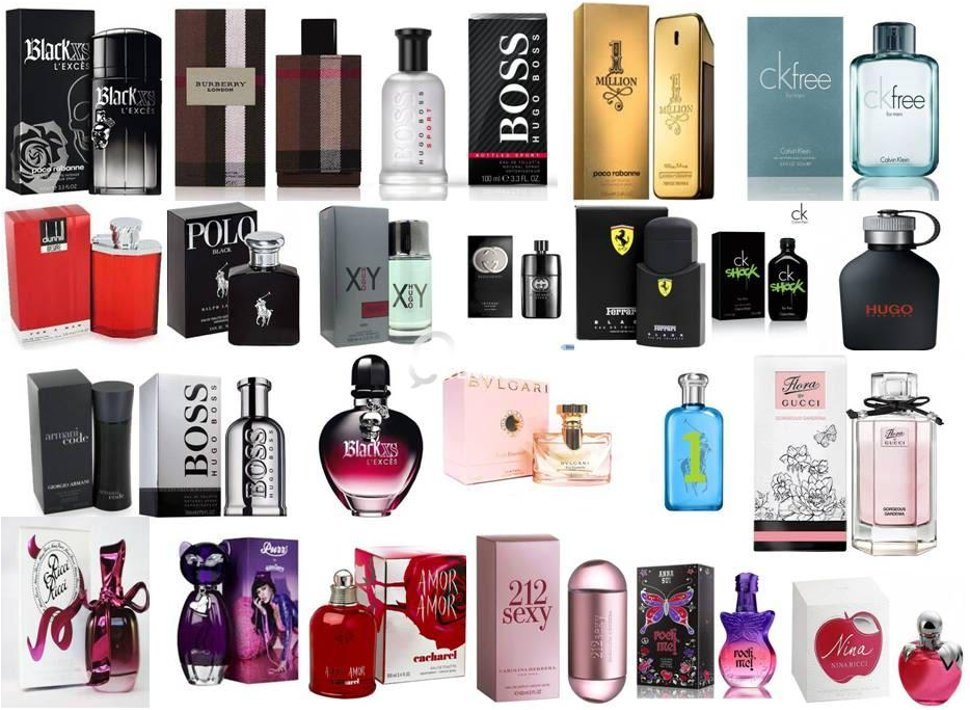 Selection of perfumes
