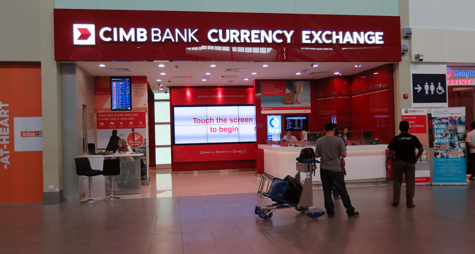 CIMB Bank Currency Exchange, klia2