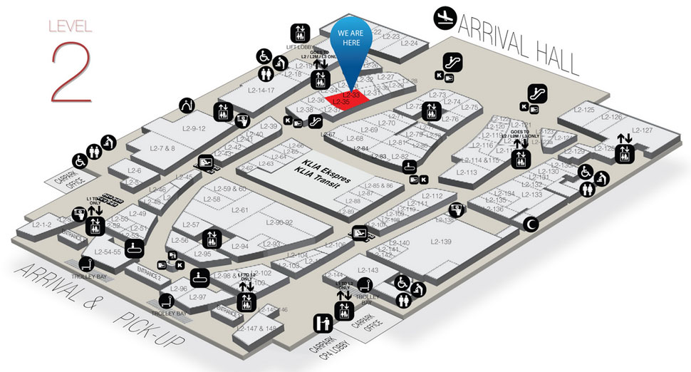 Location of Wendy's at Gateway@klia2 mall