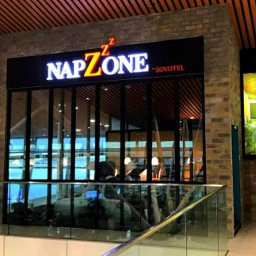 Napzone KLIA by Sovotel, air-conditioned pod at KLIA's Satellite Building fitted with comfortable bed and individual locker