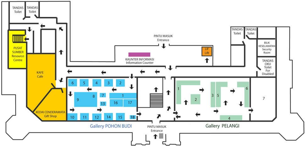 National Textile Museum Ground Floor Layout
