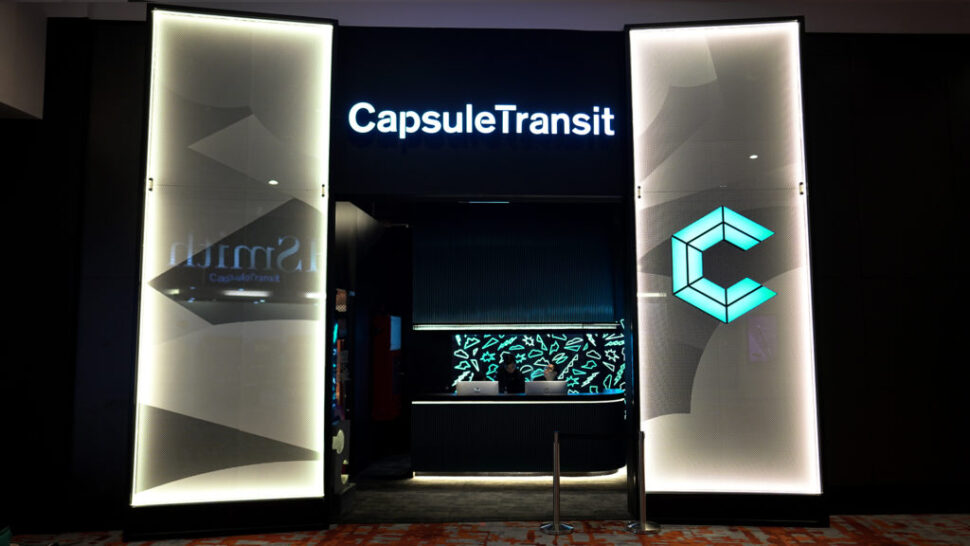 Eye-catching entrance: The latest CapsuleTransit development from CHG is open for business airside in klia2