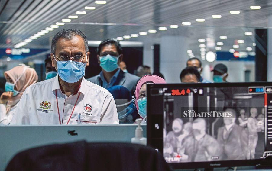 Health Minister Datuk Seri Dr Dzulkefly Ahmad said following the screenings, nine travellers had been referred to hospitals for further checks. NSTP/LUQMAN HAKIM ZUBIR