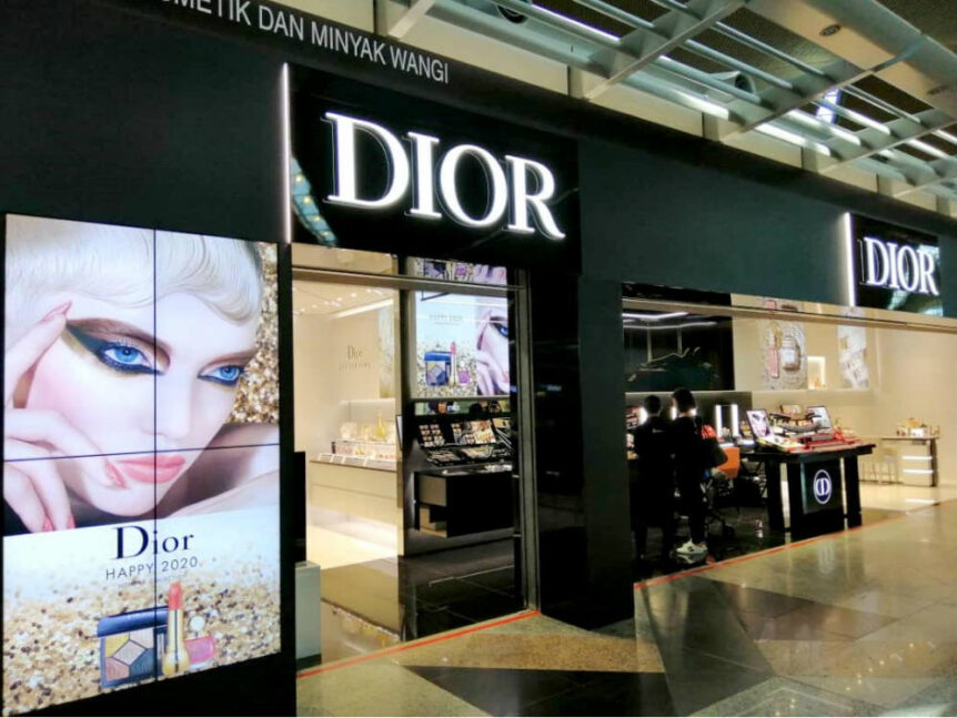 Shops for Dior (pictured), Lancôme and Swarovski at KLIA cover at total of 2,438sq ft.