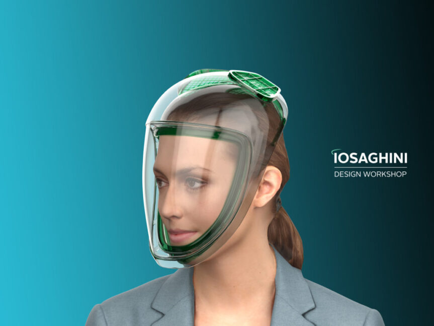 Could designer face masks be the accessory of the future? Massimo Iosa Ghini's sleek face mask design offers full-face protection and maximum visibility