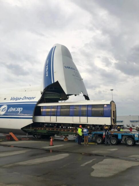 Prasarana Malaysia Bhd has today received its fifth train from Bombardier Transportation, having transported by air on the long-range heavy transporter cargo aircraft, Antonov An124-100.