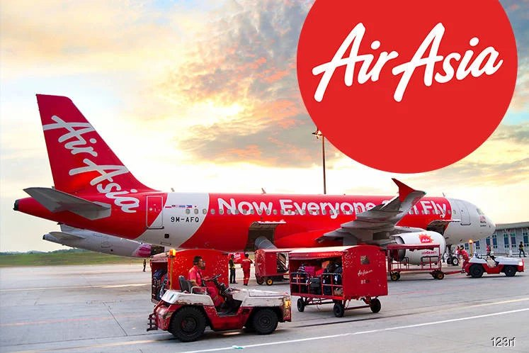 AirAsia flight at terminal