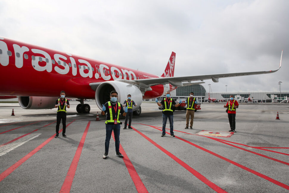 AirAsia resumed its scheduled domestic flights today in Malaysia. — Picture courtesy of AirAsia