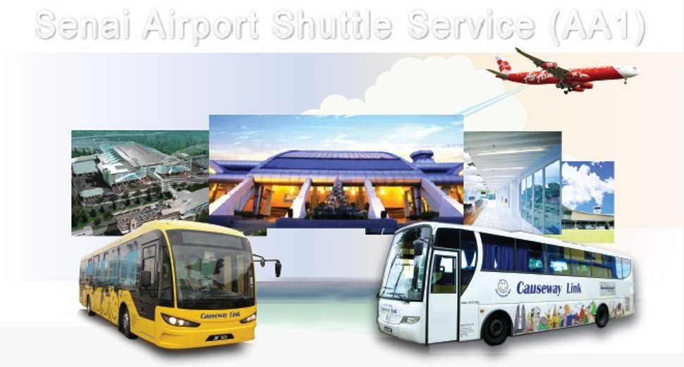 Shuttle bus services to Senai airport