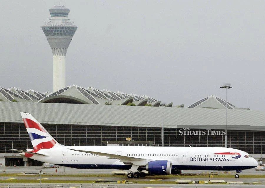 British Airways has resumed flights to Kuala Lumpur after a gap of six months due to the Covid-19 pandemic. - NSTP file pic