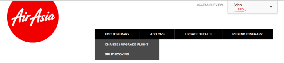 Change booking - step 2