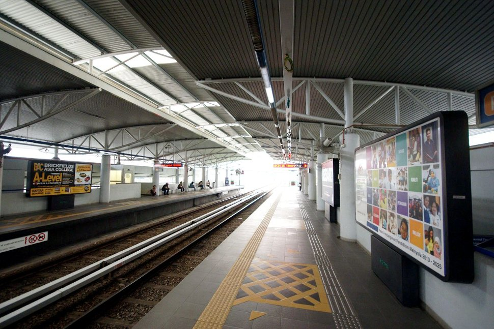 Boarding platform at Cheras LRT station