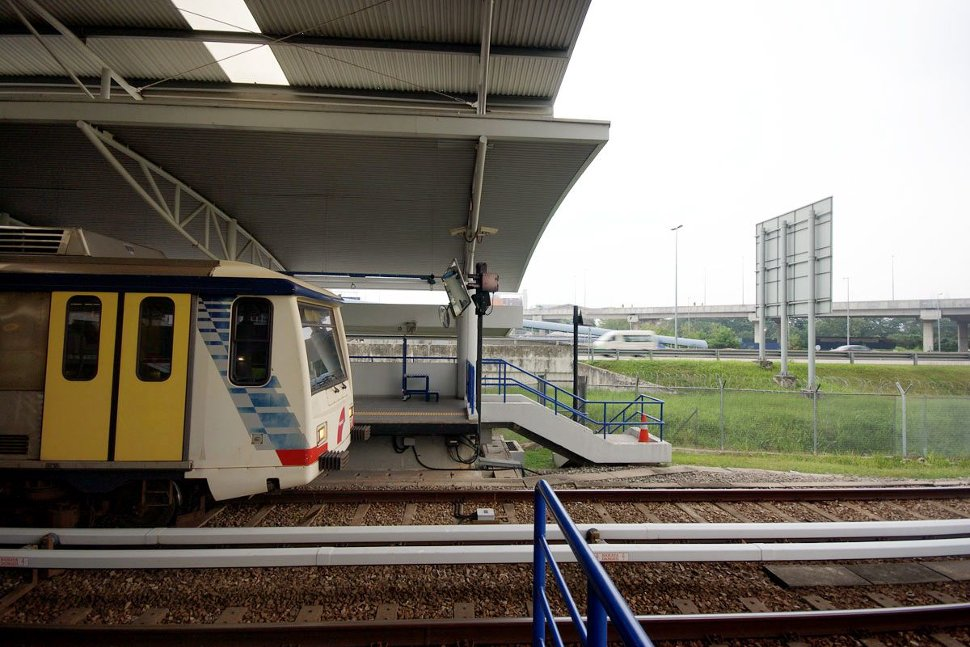 LRT train waiting at the station