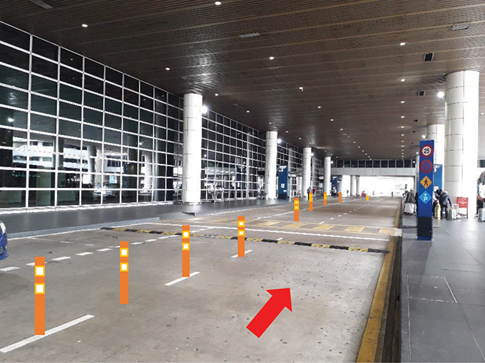 Ride-hailing pick-up points at KLIA