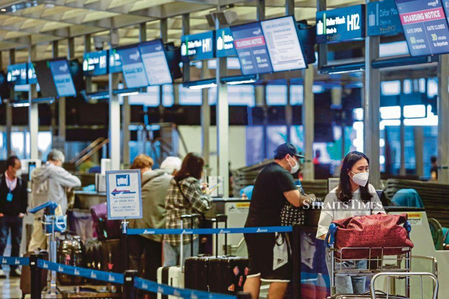 MAHB says the overall passenger movements for its local network of airports has been affected by the travel restrictions imposed since March due to Covid-19. NST pix by Aizuddin Saad.