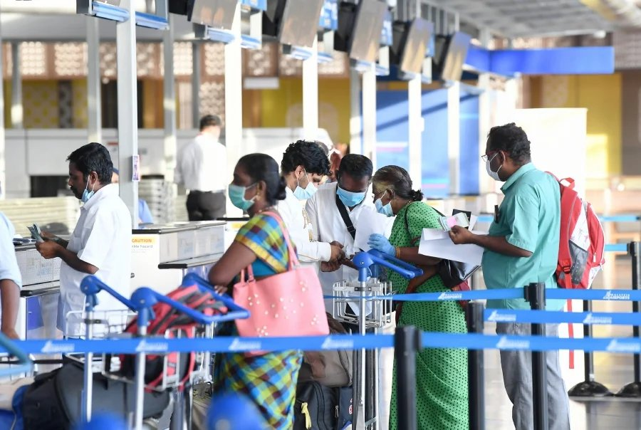 Indian nationals stranded in Malaysia joined the world's biggest repatriation exercise organised by the Indian government with 177 of them flying home tonight on the first repatriation flight from Kuala Lumpur to Tiruchirappalli. --BERNAMA pic