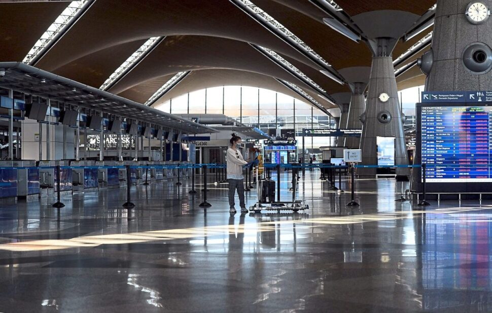 The KL International Airport is almost deserted during the movement control order in Malaysia. — AZHAR MAHFOF/The Star