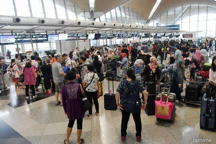 Check in counters at KLIA