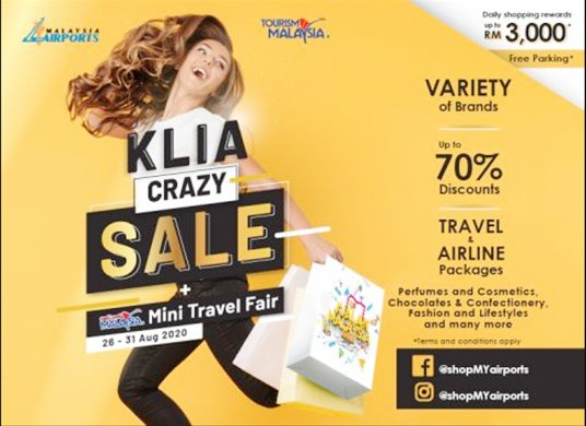 MAHB to hold 'KLIA Crazy Sale' to boost domestic tourism