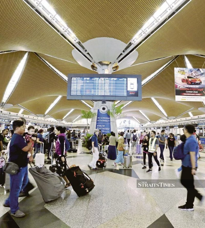 Operations are back to normal at the Kuala Lumpur International Airport in Sepang yesterday.