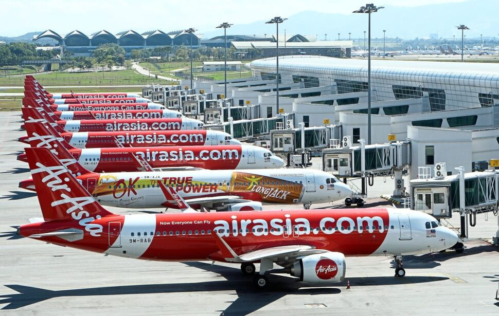 AirAsia Group has announced the temporary hibernation of its fleet across the network. For AirAsia Malaysia, this translates to suspension of all international and domestic flights from March 28 to April 21. — AZHAR MAHFOF/The Star