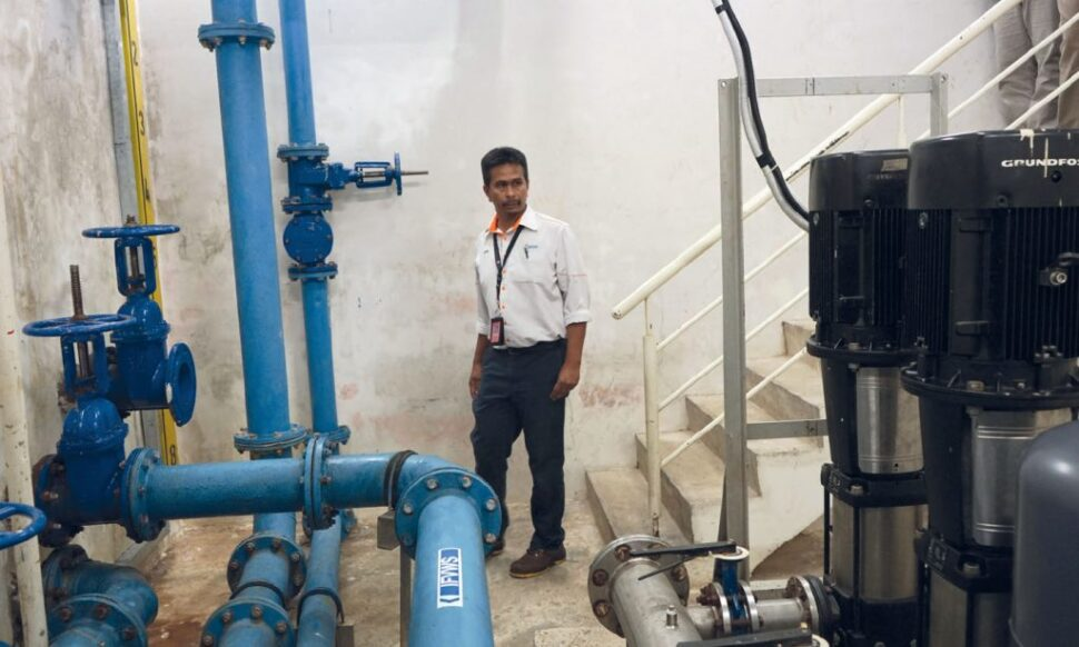 The collected rainwater is first filtered and treated, and is aimed at reducing reliance on water supply from Syabas