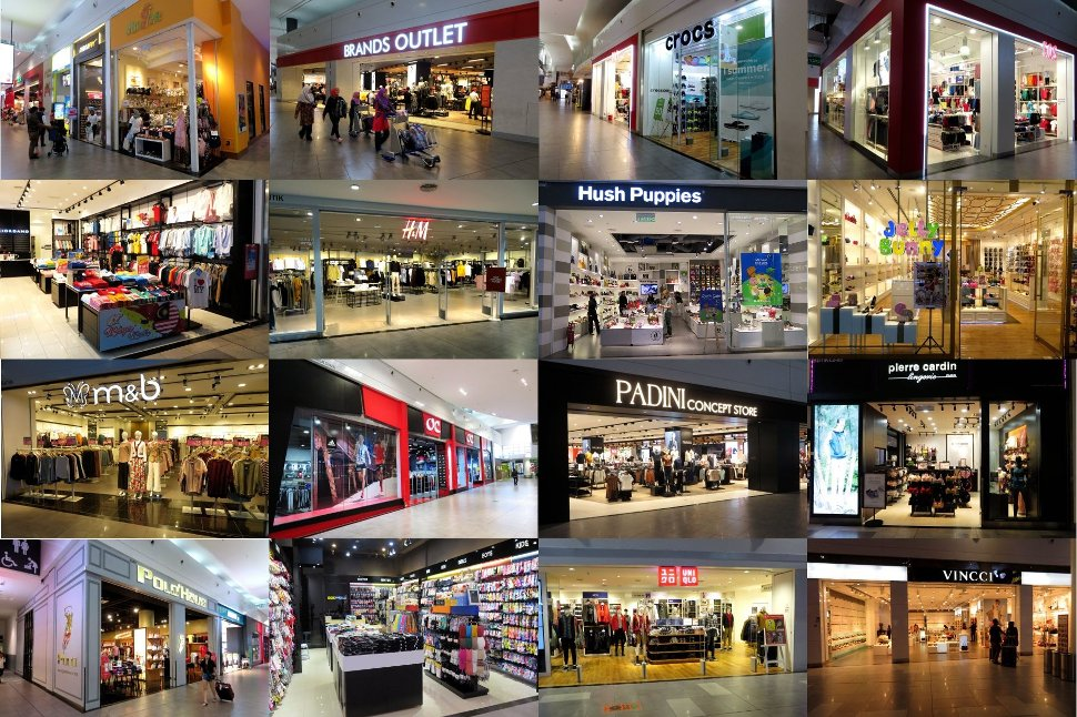 Fashion and apparel shops at klia2