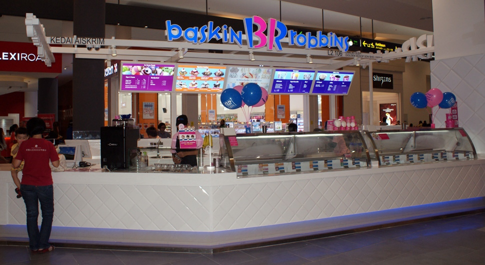 Baskin Robbins at level 2 of Gateway@klia2 mall